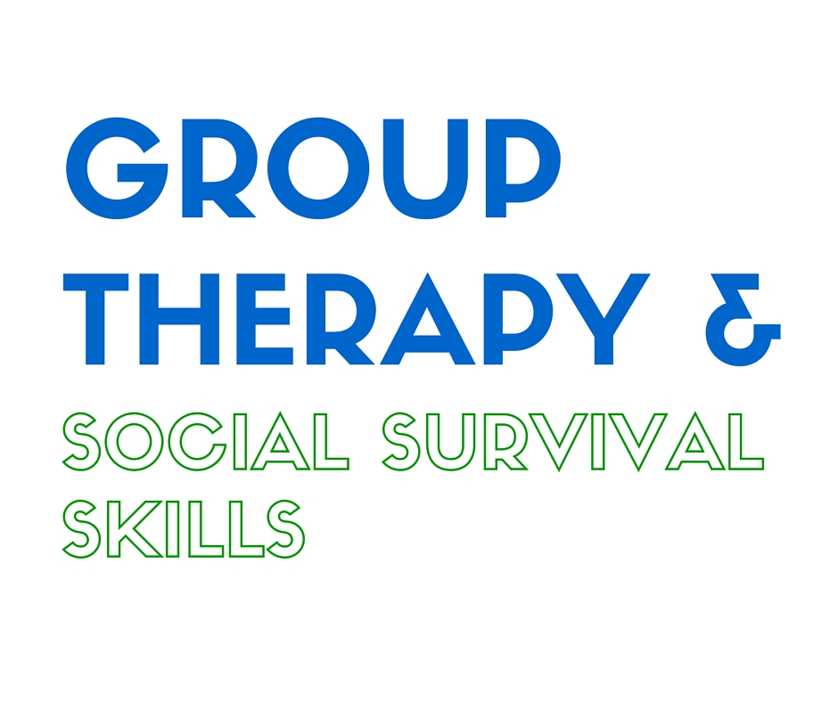 Group therapy and social survival skills