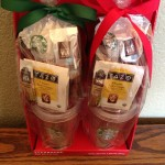 Starbucks cup with coffee and tea assortment