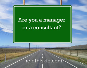 Are you a manager or a consultant?
